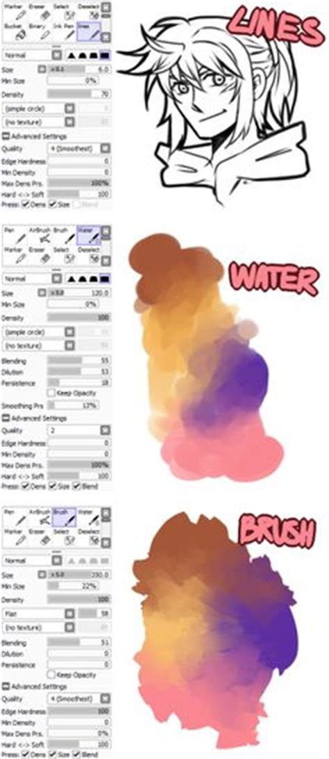 1000 images about bush sai on paint tool sai brushes and deviantart