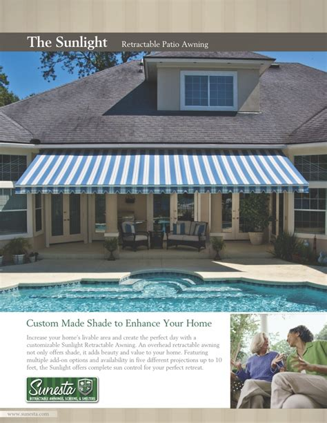 Sunsetter Retractable Awning Prices Tampa Bay Shade St Pete Florida Retractable Awnings