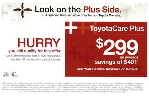 Toyota Care Plus Maintenance Plan Toyota Care Plus Toyota Service Center In Silver City Nm