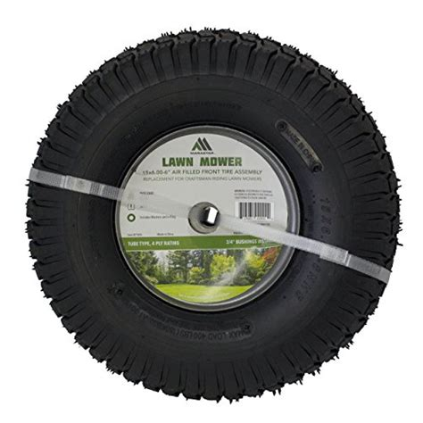 Mizzle Power Tread 3 00 18 Tubetype marastar 15x6 00 6 quot front tire assembly replacement for craftsman mowers 21446 home