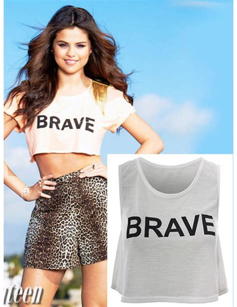 Brave Top by Wei 223 Er Top Brave Selena Gomez T291
