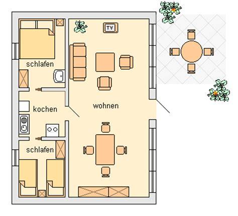grundrisse mit zwei schlafzimmern ferienwohnungen und bungalows marita schuhmann in wieck a