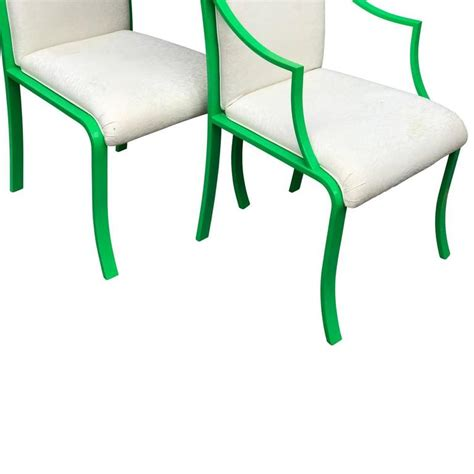 Greeny Set mid century modern set of six greeny dining chairs for