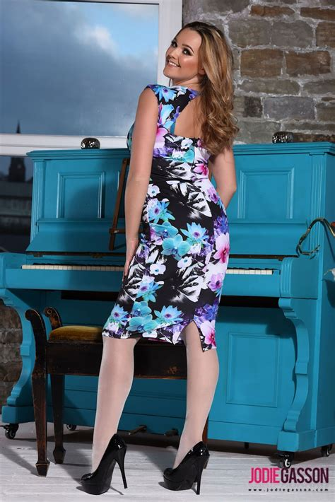 Dress Jodie models uk jodie gasson stripping from floral