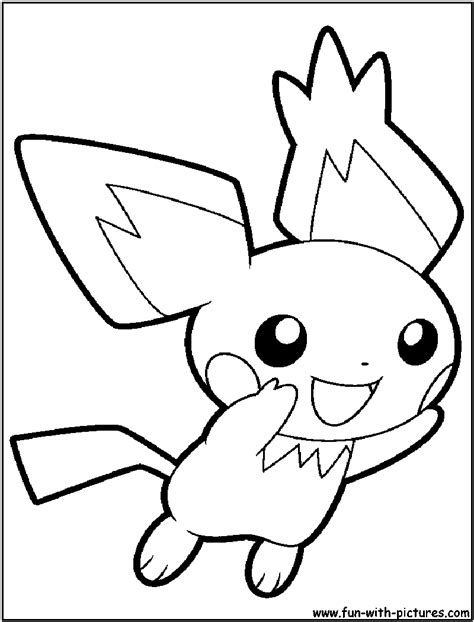 pokemon coloring pages pichu free coloring pages of pikachu y pichu