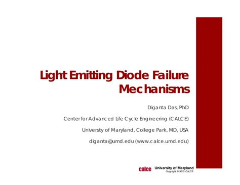 light emitting diode failure mechanisms led failure mechanisms