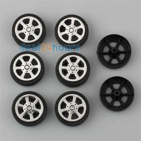 car toys wheels 8pcs plastic car tire wheels 30 9 1 9mm diy rc model