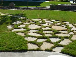 How To Install Patio Stones Flagstone Patio In Grass Chris Jensen Landscaping In