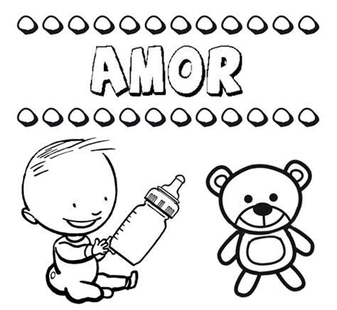imagenes de amor animadas para pintar dibujo del nombre amor para colorear pintar e imprimir