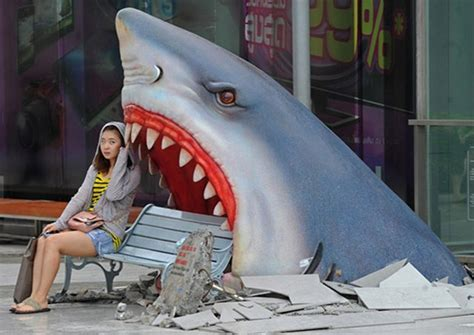 Home Decor Shopping In Bangkok by I Smell A Photo Op Great White Shark Attack Bench