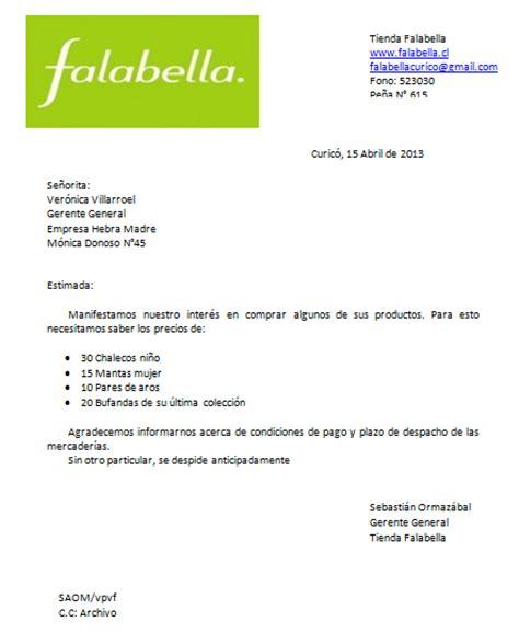carta de oferta de nuestros productos cartas comerciales redactadas cartas de compra venta