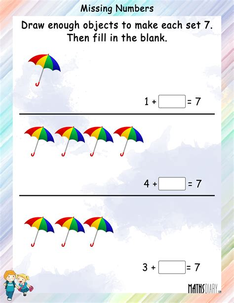 Count And Draw Worksheets by Draw And Color Objects To Complete The Given Counting