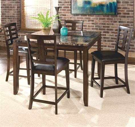 faux marble counter height table standard furniture bella 5 piece counter height dining set
