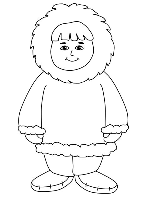Inuit Coloring Pages inuit boy countries coloring pages coloring book