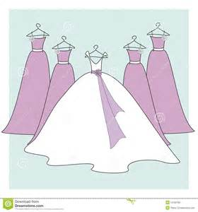 Prices For Flowers For A Wedding - bride and bridesmaids dresses royalty free stock images