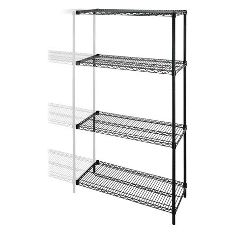 lorell industrial wire shelving add on unit 48 x 24 x 72