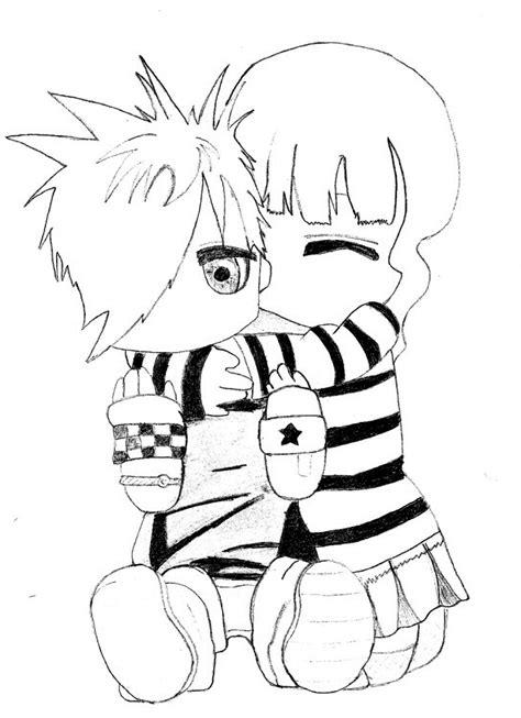 imagenes de emo love para dibujar im 225 genes de emos en dibujos animados para colorear
