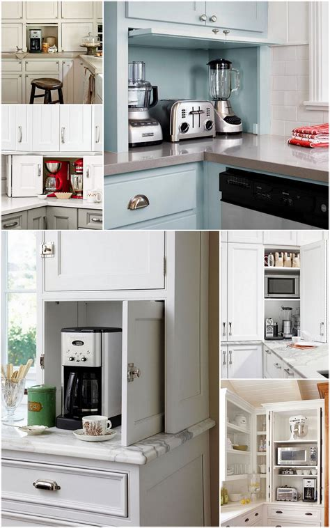 The Ideal Kitchen Appliance Storage Live Simply By Annie Kitchen Appliance Cabinet Storage