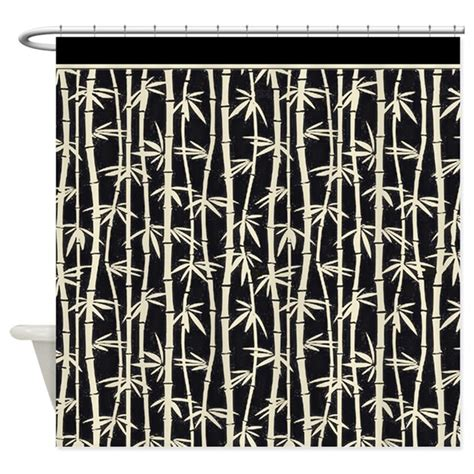 black and cream shower curtain black cream bamboo forest shower curtain by digitalrealityart