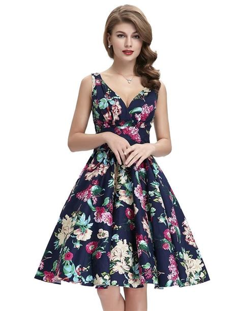 swing dress floral maggie crossover floral swing dress 1950sglam