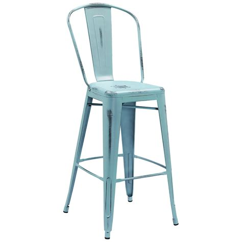 Distressed Blue Bar Stools by Distressed Blue Metal Bar Height Stool With Vertical