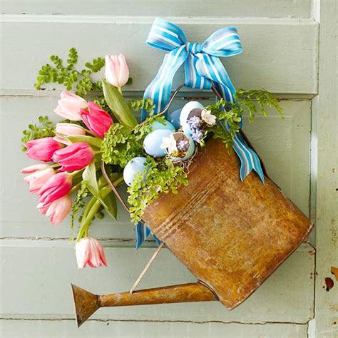 easter door decor mix and chic fresh and fabulous easter decorating ideas