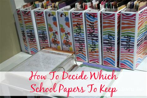 How To Make A School Paper - how to decide what school papers to keep organize 365