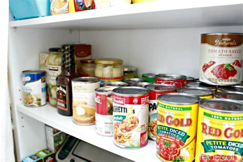 Shelf Canned Goods by No Pantry No Problem Food Storage Ideas 4 Real