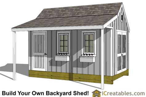 Shed With Porch Plans by Ideas Shed Plans 12x16 Cape Cod