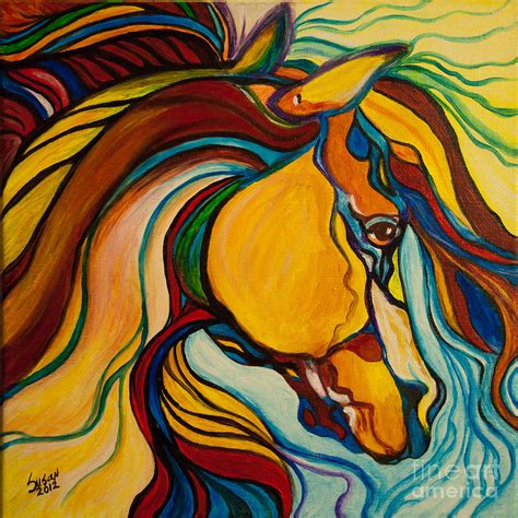 colorful horses colorful