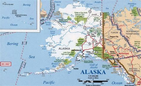 map usa with alaska detailed map of alaska state with national parks alaska