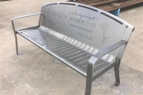 personalized memorial bench memorial benches quality site furniture