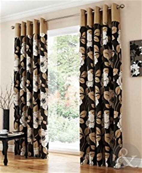 cream black curtains luxury harper floral eyelet curtains black cream ring