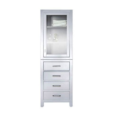 white freestanding linen cabinet modero 24 inch linen tower in white finish avanity