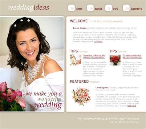 free templates for wedding website free premium wedding website templates evohosting