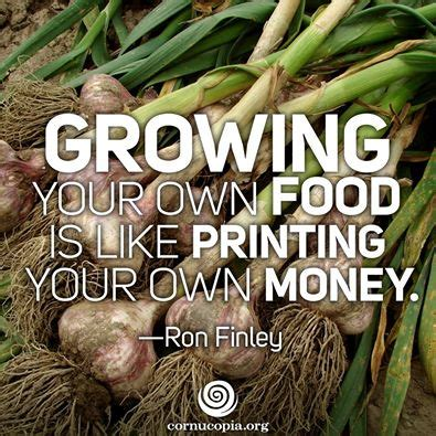 ron finley quote growing food   printing money political memes today