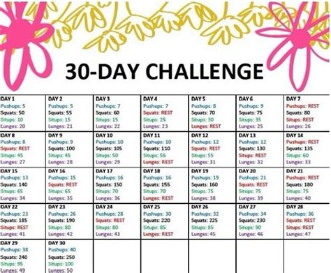 8 day challenge diet 30 day challenge fitness diet and exercise