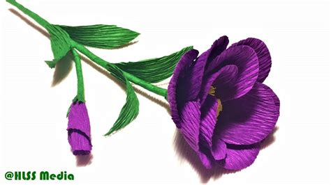 lavender paper flower tutorial how to make origami purple rose paper flower tissue paper