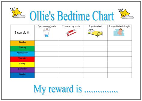 printable toddler bedtime routine chart 9 best images of bedtime chart rewards kids daily