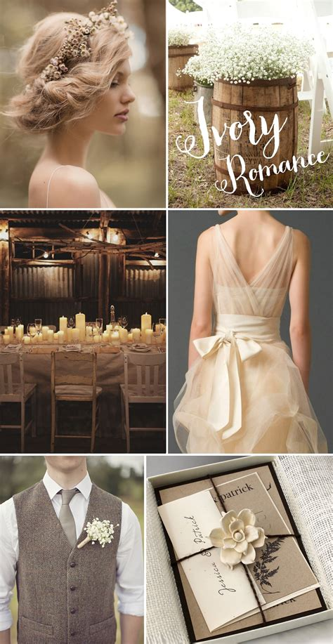 inspiration for a rustic vintage style wedding rustic ivory romance a rustic wedding inspiration board chic