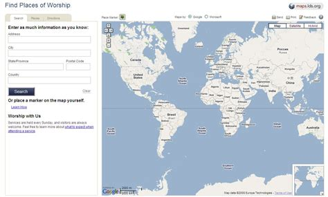 lds maps new meetinghouse locator on lds org 187 lds mormon blogs