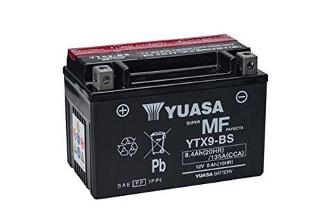 Motorrad 125 Ccm Honda Preise by Yuasa Ytx9 Bs Powersports Agm Motorrad Batterie