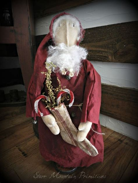 1172 best primitive santas images on pinterest primitive