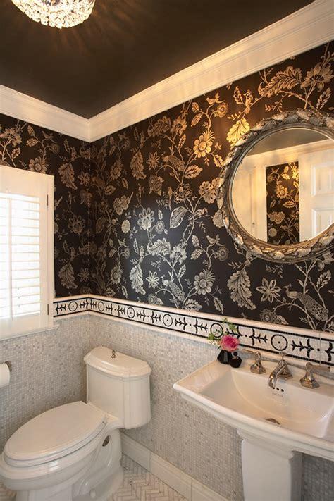bathroom wallpaper border ideas wallpaper in this half bath