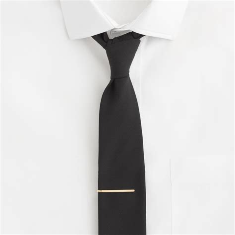 j crew gold plated tie bar in gold for lyst