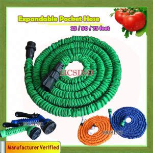 Magic X Hose 75 Meter Xhose 25 Ft With Connector Type A china garden water spray gun magic expandable garden pocket x hose 25 50 75