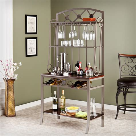 Bakers Rack With Wine Storage by Decorative Bakers Rack With Wine Storage 579110 Kitchen
