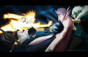 anime vs obito 641 and sasuke vs obito by