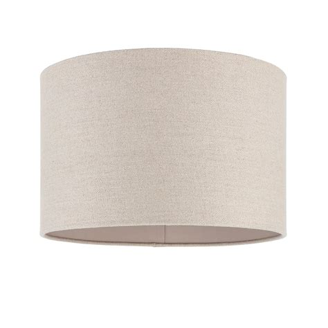 Cylindrical L Shade by Endon Lighting Obi 14 Inch Linen Cylindrical Shade