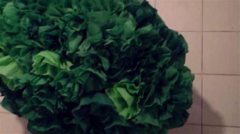Haciendo Arbustos Tipo Pi 209 | papel crep corrugado arbol de navidad 180 manualidad 225